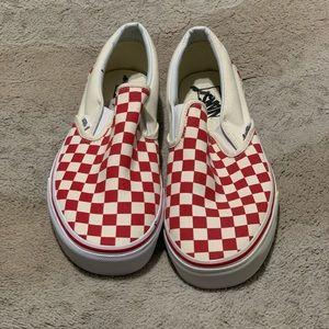 Nwot vans checkered slip on